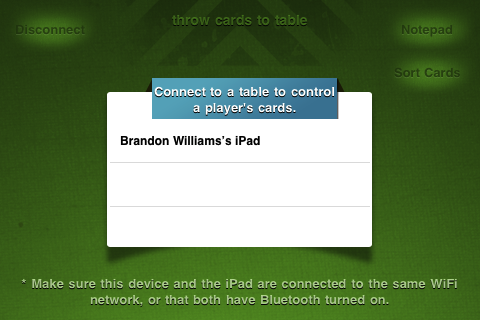 Screenshot IsoCards Hand ~ virtual deck of cards for your iPad/iPhone
