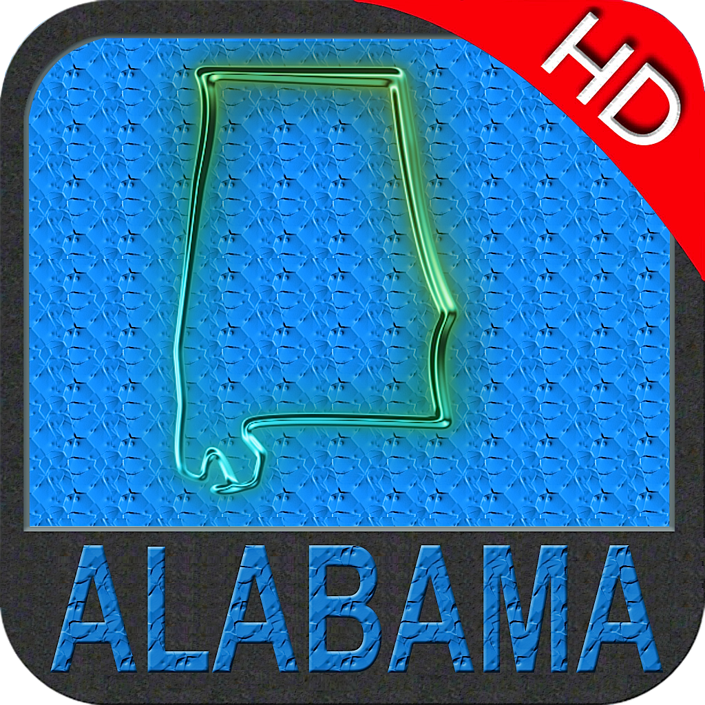 Alabama nautical chart HD: marine & lake gps waypoint, route and track for boating cruising fishing yachting sailing diving